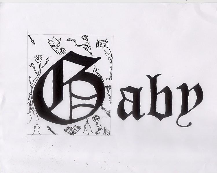 gaby name cursive 11765 loadtve